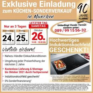 Günstig die neue Traumküche kaufen: fast Händlereinkaufskonditionen, 2 Jahre Planungssicherheit - beim Küchen-Sonderverkauf bei Flamme Küchen + Möbel, Klausnerring 12, 85551 Kirchheim-Heimstetten