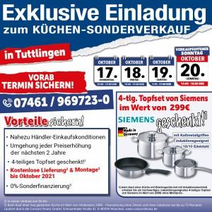Exklusive Ausnahmekonditionen beim günstigen Küchensonderverkauf bei MEGA Küchen in 78532 Tuttlingen