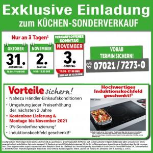 Echt günstiger Küchensonderverkauf mit Jubiläumspreisen und exklusiven Vorteilen bei Möbel König in 73230 Kirchheim unter Teck!