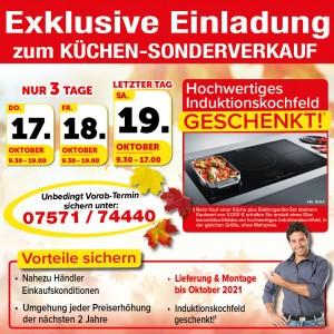 Küchen- Sonderverkauf Küchen zu Einkaufs-Kondiotionen bei Möbel SB Aktionshalle, Friedrich-List-Straße 5, 72488 Sigmaringen