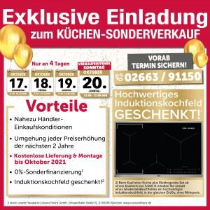 Exklusive Gratis-Vorteile nutzen beim günstigen Küchen-Sonderverkauf bei Wohnlich Westerburg in 56457 Westerburg