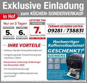 Wirklich günstig Küchen kaufen mit Vorteilen beim Küchensonderverkauf bei der Möbel SB Halle in 95032 Hof-Moschendorf