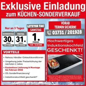 So geht günstig Küchen kaufen: Wunschlieferung, Lieferung und Montage kostenlos, Sonderfinanzierung, hochwertiges Induktionskochfeld geschenkt!