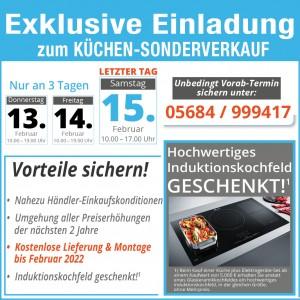 So richtig günstig Küchen kaufen beim Küchen-Sonderverkauf beim Einrichtungshaus Hämel in 34621 Frielendorf bei Kassel, Bad Hersfeld