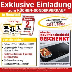 Nutzen Sie die exklusiven Vorteile und Aussnahmekonditionen beim exklusiven Küchen-Sonderverkauf bei Möbel May in 56564 Neuwied am Rhein
