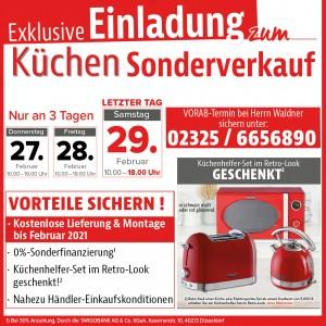 Exklusive Vorteile beim Küchen-Sonderverkauf bei Markant Küchen in 44649 Herne-Wanne