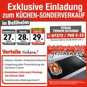 2 Jahre Planungs- und Preissicherheit, Induktionskochfeld geschenkt, gratis Lieferung + Montage bis Februar 2022: Einrichtungshaus StrohmeierGilb, 76756 Bellheim