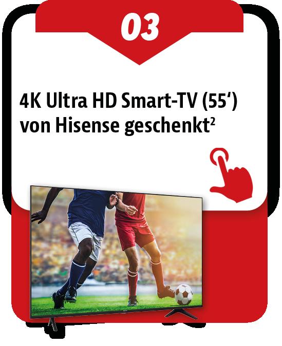 4k Fernseher von Hisense geschenkt